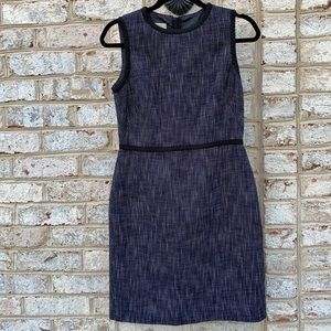 Hobbs London Blue White Tweed Sleeveless Dress 4